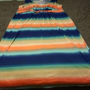 Multi-Color Spring Maxi Dress